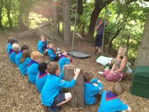 Beavers and cubs at Bring Yer Wellies