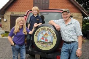 Nigel, Melissa & Fergus Peter from Bring Yer Wellies